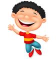 Happy boy cartoon vector image