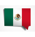 Mexico flag paper 3d realistic speech bubble on vector image