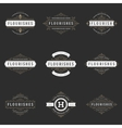 Royal Logos Design Templates Set vector image