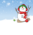 Snowman design for christmas background vector image