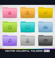 Colorful Folder Types vector image vector image
