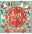 Christmas and New Year template vector image