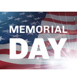 memorial day flying flag of the usa and flash vector image