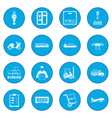 logistics icon blue vector image