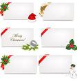 Christmas Blank Gift Tag Set vector image