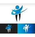 Swoosh People Logo Icon vector image