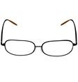 black glasses vector image vector image