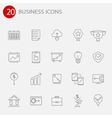 Set of thin line icons for your design vector image