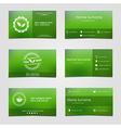 Set of business cards for tea vector image