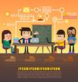 Teamwork brainstorming vector image