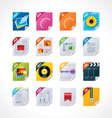 file labels icon set vector image