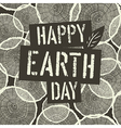 Happy Earth Day Logotype on Tree Rings Seamless vector image
