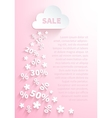 Background for seasonal promo actions vector image