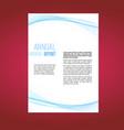 beautiful futuristic swoosh wave business leaflet vector image