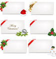 Christmas Blank Gift Tag Set vector image
