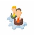 Employee training concept icon cartoon style vector image