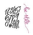 modern lettering numbers set for design vector image