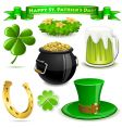 Saint Patrick's day symbols vector image