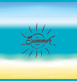 summer background hello summer vector image