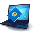 Laptop and notebook vector image vector image
