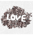 seamless love texture with abstract flowers vector image vector image