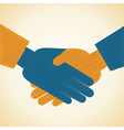 Businessman handshake background vector image vector image