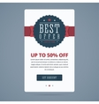 Best sale banner with best offer stamp vector image