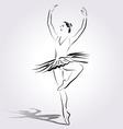 Line sketch of a ballerina vector image