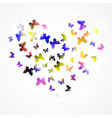 Abstract background with colorful butterfly in the vector image