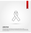 AIDS awareness ribbon icon vector image