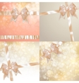 Christmas Set of sparkle background EPS 10 vector image