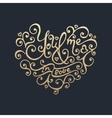 Happy Valentines day Golden lettering vector image