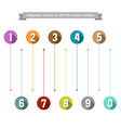 Infographic options set with flat shadow numbers vector image