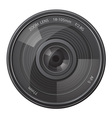 lens photo camera vector image