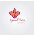 Lotus flower logo template concept Logo sign for vector image