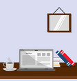 reading with laptop design vector image