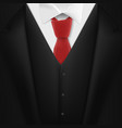 realistic black suit photorealistic 3d mens vector image