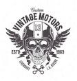 Rider Skull Print vector image