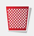 trash sign new year reddish vector image