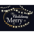 Merry Christmas Lights vector image