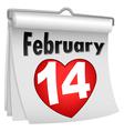 14 Feb Paper Flip Calendar vector image