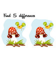 cartoon butterfly and mushroom over blue sky find vector image