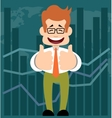 Cartoon businessman in style of flat design vector image vector image