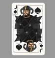 Jack spades playing card vector image