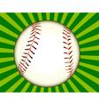 baseball ball vector image vector image