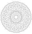 Coloring Floral Decoration Ornament vector image