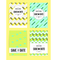 abstract cards with date vector image
