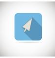 Computer arrow flat icon vector image