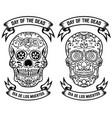 day of the dead dia de los muertos set of the vector image