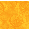 Hand drawn orange or lemon citrus fruit vector image